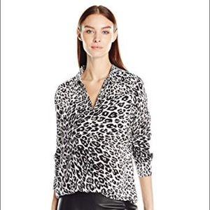 Equipment Slim Signature Cheetah Print Blouse Top